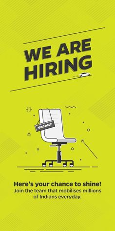 Job hiring poster design template. Click to customize ...
