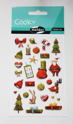 Sticker - Sticker Cooky Weihnachten glitzer - ein Designerstück von madonner bei DaWanda