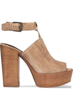 REBECCA MINKOFF Cece Suede Platform Sandals. #rebeccaminkoff #shoes #sandals