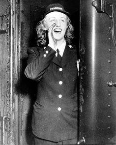 WWII PHILADELPHIA RAILROAD WOMAN TRAINMAN ALL ABOARD!