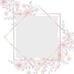 Greeting card with light pink flowers frame Free Vector Pink Glitter Background, Flower Background Wallpaper, Framed Wallpaper, Cute Wallpaper Backgrounds, Flower Backgrounds, Fond Design, Flower Graphic Design, Light Pink Flowers, Instagram Frame