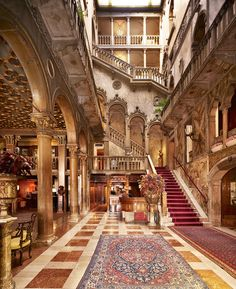 Palazzo Dandolo Hall at Hotel Danieli in Venice, Italy - we witnessed a wedding reception in the hall to the left of this shot.  What an amazingly beautiful and historical place - pinch me!