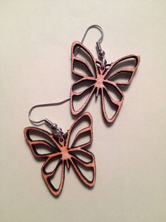 Laser Cut Butterfly Earrings by AlterImagination on Etsy, $15.00