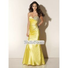 Mermaid Sweetheart Neckline Floor Length Satin With Embroidery Prom Dress PD33757 at belloprom.com