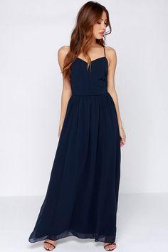 Director's Cut Navy Blue Maxi Dress at Lulus.com!