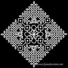Put 29 dots in the center - leave one dot at both ends and put dots at both sides and stop at 1 . Indian Rangoli Designs, Rangoli Ideas, Rangoli Designs With Dots, Rangoli Designs Images, Kolam Rangoli, Rangoli With Dots, Beautiful Rangoli Designs, Simple Rangoli, Mehandi Designs