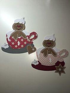 Fensterbild Tonkarton Lebkuchenmänner Weihnachten Winter Dekoration Fensterdeko