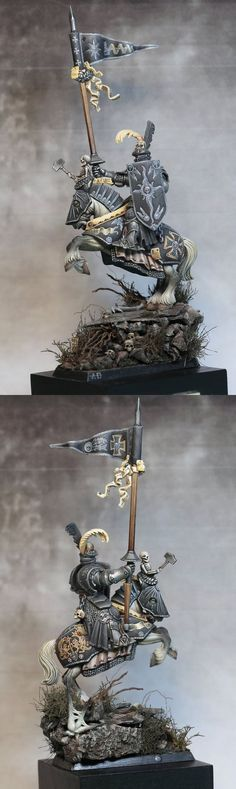 The Internet's largest gallery of painted miniatures, with a large repository of how-to articles on miniature painting Warhammer Empire, Warhammer Fantasy, Warhammer Models, 28mm Miniatures, Fantasy Miniatures, Fantasy Battle, Fantasy Armor, King Horse, Good Knight