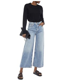 Shop on-sale Pima cotton-jersey bodysuit. Browse other discount designer Bodysuits & more luxury fashion pieces at THE OUTNET Coat Dress, Jacket Dress, Anthony Thomas, Denim Shop, Skirt Pants, Jeans Style, Cropped Jeans, Knitwear, Mom Jeans