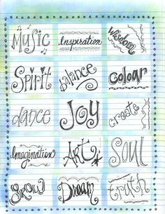 Lettering Styles post its with chalk for background Doodle Lettering, Creative Lettering, Lettering Styles, Lettering Ideas, Lettering Tutorial, Wreck This Journal, Alphabet Police, Font Alphabet, Doodles