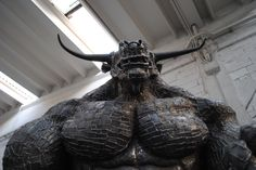 Frontal view / Minotaur / Greek Mythology / Scrap Metal / Sculpture /
