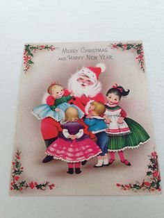 Vintage Christmas Greeting Card Norcross by TheGOOSEandTheHOUND