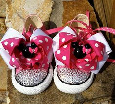 Minnie Mouse Swarovski Converse...when we visit grandpa carter and Disney one day!