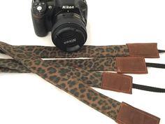 Camera Strap with Waxed Canvas Tribal Animal Cheetah print | Etsy 35 Mm Lens, Tribal Animals, Camera Straps, Photography Camera, Waxed Canvas, Everyday Bag, You Bag, Cheetah Print, Photoshoot Ideas