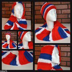 Hat & Scarf by crochetbysybil on Etsy, $25.00