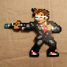 10th Doctor (David Tennant) - Doctor Who perler beads by  cch5n