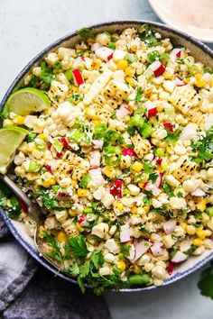 We've rounded up the 30 best summer side dishes—from pasta salads to grilled corn and everything in between, we've got you covered. Corn Salad Recipe Easy, Corn Salad Recipes, Corn Salads, Summer Corn Salad, Summer Salads, Summer Food, Mexican Food Recipes, Healthy Recipes, Salads