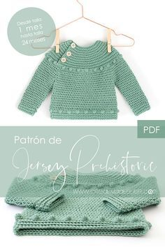 Prehistoric Sweater and Bodice Pattern PDF Crochet Pattern to make this beautiful and practical Crochet Sweater or Bodice. In this pattern you will find the directions to make the crochet bodice for a dress. Crochet Baby Sweaters, Crochet Baby Cardigan, Baby Girl Crochet, Crochet Baby Clothes, Knit Dress, Dress Sewing, Dress Shirt, Baby Sweater Patterns, Baby Knitting Patterns