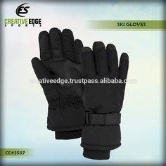 Gohan Unisex Black Ski Gloves / Knitted Sports Ski Gloves / Wholesale Custom Cheap Warm Winter Ski Gloves for Men #gloves_ski, #Sports