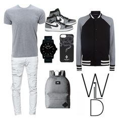 """Grey&White&Black"" by anna-daddario ❤ liked on Polyvore featuring Dsquared2, Simplex Apparel, rag & bone, Vans, NIKE, Nixon, Marcelo Burlon, men's fashion and menswear"
