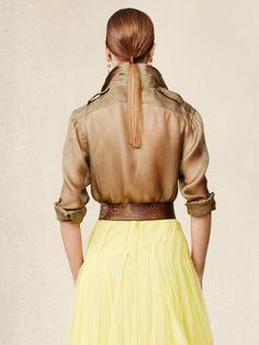 Silk Douglas Safari Shirt - Collection Apparel Long-Sleeve - RalphLauren.com