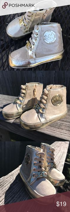 KORS Baby Ana Gold Infant Shoes New with tag. Gold Michael core infant baby Anna size 4 Michael Kors Shoes Baby & Walker