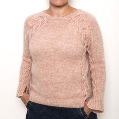 viola-voksen-1 Diy Wardrobe, Knitting Patterns, Men Sweater, Pullover, Knits, Model, Sweaters, Design, Fashion