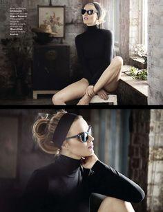visual optimism; fashion editorials, shows, campaigns & more!: la perfezione è brutta: eva herzigova by signe vilstrup for glamour italia may 2014