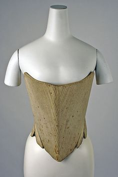 Corset    Date:      third quarter 18th century  Culture:      American  Medium:      cotton
