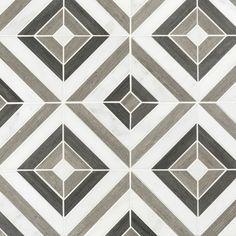 Prismatic Carrara Blend Marble Mosaic - 12 x 12 - 100464833 Marble Mosaic, Mosaic Glass, Mosaic Tiles, Stone Tile Flooring, Stone Tiles, Floor Patterns, Tile Patterns, Painting Patterns, Decorative Tile Backsplash
