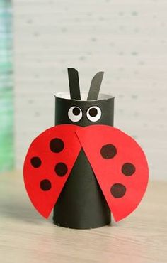 Image result for ladybug toilet roll craft