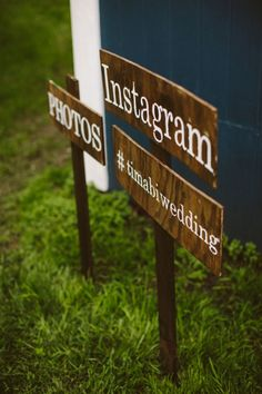 #Instagram #Signage | See More: http://thebridaldetective.com/idyllic-backyard-wedding-with-woodsy-details