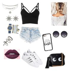 """""""I'm sorry"""" by kau648156 on Polyvore featuring adidas, Anya Hindmarch, Alice + Olivia, Casetify, Lime Crime, Mixit, Bee Goddess, Miss Selfridge, men's fashion and menswear"""