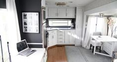 5th wheel RV makeover...before and after pictures.  I could live like this (follow the link): http://mobilehomeliving.org/fabulous-5th-wheel-camper-makeover/