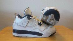 innovative design dbfc4 1c684 Nike Air Jordan Retro 4 IV PS GG GS Legend White   Blue - Size 13.5