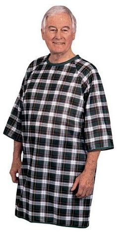 b8f7177392 Hospital Gowns - Men s Flannel Open Back Adaptive Hospital Patient ...