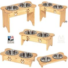 ELEVATED POLY DOG FEEDER ~ Choice of Height & 342 COLOR COMBOS Amish H – Saving Shepherd