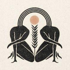 Great illustration for feminine logo design and female centered health and lifestyle business. Kunst Inspo, Art Inspo, Foto Logo, Photographie Portrait Inspiration, Wow Art, Art And Illustration, Figure Drawing, Printmaking, Artsy