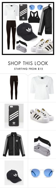 """ADIDAS"" by jessleighxox ❤ liked on Polyvore featuring adidas Originals and adidas"