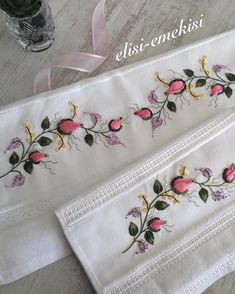 80 Likes, 1 Comments - Elisi_e Bullion Embroidery, Diy Embroidery Kit, Cutwork Embroidery, Embroidery Works, Embroidery Stitches, Machine Embroidery, Embroidery Designs, Yarn Crafts, Diy And Crafts