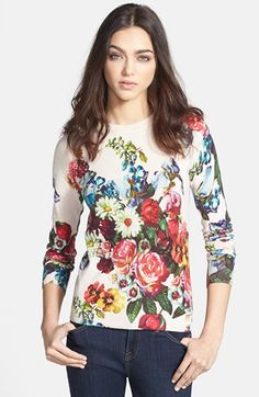 Ted Baker London 'Nude Oil Painting' Print Sweater available at #Nordstrom
