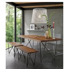 """CB2 dylan 36""""x80""""dining table"""