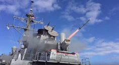 SeaRAM is test fired March 4, 2016 from the guided missile destroyer USS Porter (DDG 78). Porter is forward-deployed to Rota, Spain, and is preparing for deployment in the U.S. 6th Fleet area of operations in support of U.S. national security interests in Europe. U.S. Navy photo