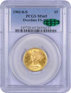 1901-0-S PCGS MS65 Five Dollars
