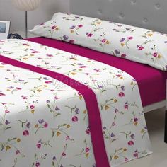 Sábanas de Franela Marion Pierre Cardin Bedroom Decor For Small Rooms, Home Bedroom, Pink Bedrooms, Girls Bedroom, Bed Covers, Pillow Covers, Quilted Curtains, Sheet Curtains, Bed Cover Design