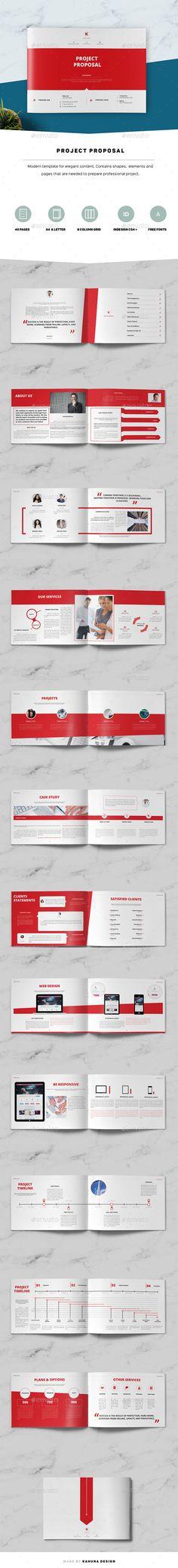 Project Proposal Landscape - #Informational #Brochures Download here: https://graphicriver.net/item/project-proposal-landscape/19542213?ref=alena994