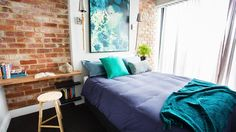 The Design Duo and Block winners, Alisa and Lysandra share their interior design projects, plus you can shop their fave art prints, canvas artwork and rugs. Bedroom Fan, Home Decor Bedroom, Master Bedroom, Bedroom Ideas, Guest Bedrooms, Upstairs Bedroom, Bedroom Styles, Beautiful Bedrooms, Bean Bag Chair