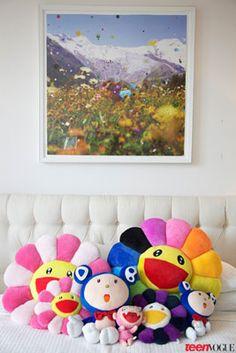 Giant Takashi Murakami Flower Pillow For The Home In