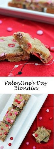 Valentine's Day Blondies (aka M&M Blondies)