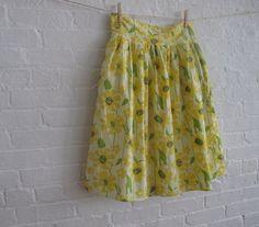 vintage sheet skirt. on etsy